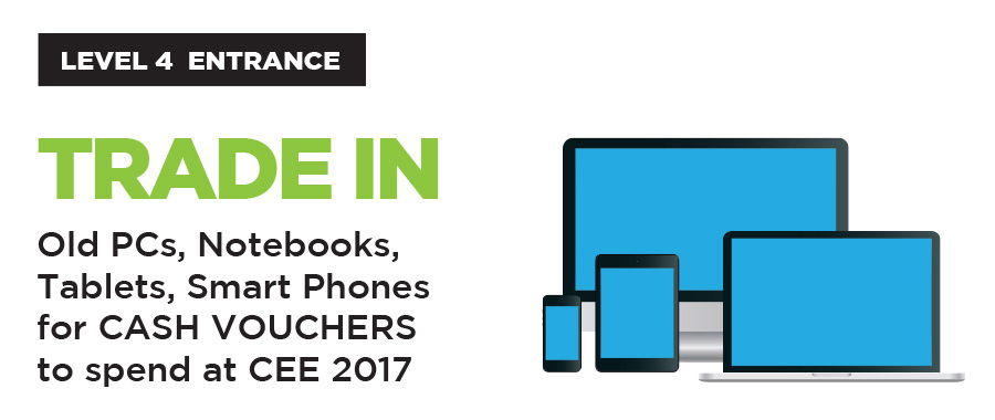 Old PCs, Notebooks, Tablets, Smart Phones for CASH VOUCHERS to spend at CEE 2017