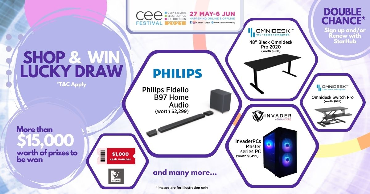 Shop & Win Lucky Draw with over $15k worth of prizes